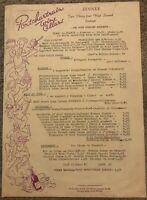 1970's Vintage Menu PONTCHARTRAIN WINE CELLARS Restaurant Detroit MI