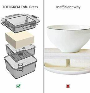 Tofu Press, Tofu Press Maker Tofu Presser Drainer Gadget, BPA Free Tofu Presser
