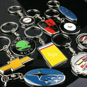Fashion 3D Car Logo Metal Titanium Key Chain Car Ring Keyfob Metal Keyring Gifts