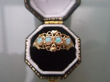 9ct Gold Women's Opal Ring Four-Stone Weight 1.6g Size N Stamped Quality Ring