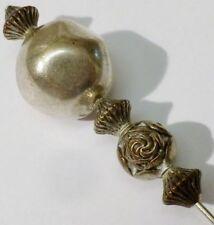 pic épingle chapeau cravate bijou vintage perle couleur argent déco * 3449