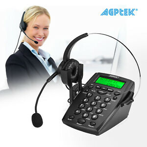 AGPTEK Business Office Telephone Noise Cancelling with Headset Call Center Dial