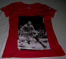 Derrick Rose Chicago Bulls V-Neck Jersey Shirt Ladies Medium Sexy Red NBA