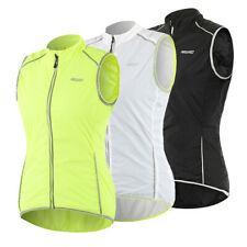 Women Sleeveless Cycling Jacket Outdoor Riding Sports Reflective Windproof Vest