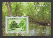 Azerbaijan - 2011, Europa, Forests, Trees sheet - MNH - SG MS789