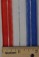 "5 yards Americana Twist 'N Go Ribbon 2"" wide Red, White & Blue"