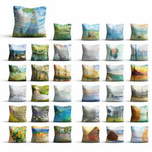 Painting By Claude Monet High Quality Silk Pillowcase Sofa Decor Cushion Cover