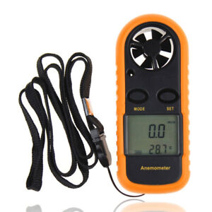 Mini Handheld Digital LCD Wind Speed Meter Gauge Anemometer With Backlight