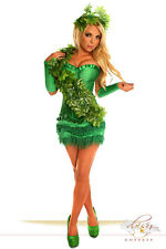 Sexy Daisy Corset POISON IVY, ADAM EVE Costume Halloween Rave Festival PLUS SIZE