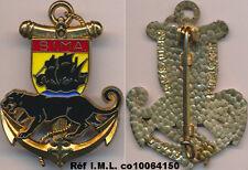6° Bataillon d'Infanterie de Marine,écu jaune,panthère noire,Delsart 3214(7041)
