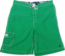 NEW - NWOT - RRP $199- Mens Polo by Ralph Lauren Green Surf Swim Board Shorts