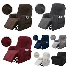 4 Pcs Stretch Recliner Cover Chair Slipcover Velet Sofa Couch Protector Lazy Boy