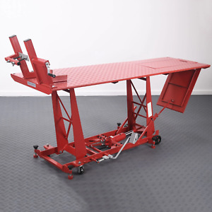 Hydraulic Motorcycle Mechanics Garage Workshop Lift Table Bench - Heavy Duty