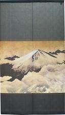 Noren Japonés Colgante Cortina Brillantes Fuji Mountain1 Gris Taikan Japón