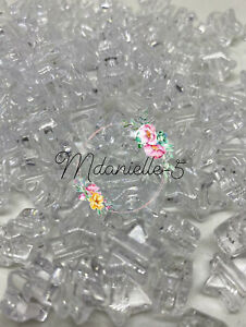 3 For 2 50x CLEAR STAR 13mm PONY BEADS