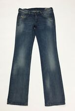 Diesel doozy jeans donna usato slim gamba dritta stretch W28 L32 tg 42 blu T3991