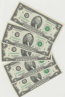 5 consecutively # 2003 $2 FEDERAL RESERVE NOTES