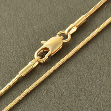 Womens Mens Boys Snake Chain Necklace 18inch Yellow Gold Filled Square Necklace