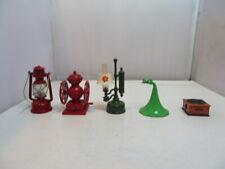 Lot of four miniature metal pencil sharpeners Lantern, Victrola, Coffee Grinder