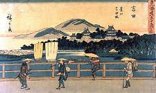 Xilografía japonesa Yoshida-gyosho Vintage Art Print by Ando Hiroshige