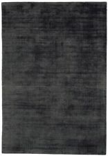 Contemporary Home Blade 100 Viscose Pile Hand Woven in India Charcoal Rug200x290