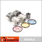 Pistons and Rings fit 93-97 Geo Prizm Toyota Corolla 1.6L DOHC 4AFE 16V