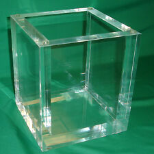 Clear Acrylic Cube Box with Bubble-Free Glue Joints
