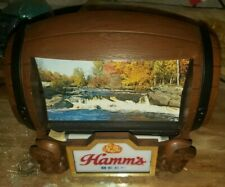Vintage Hamm's Beer Barrel Action Register Light Moving Flipping Scenes Working