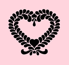 HEART FEATHERED STENCIL TEMPLATE ART CRAFT PAINT HEARTS NEW BY STENSOURCE