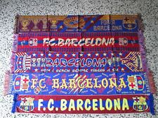 lotto 5 sciarpe BARCELONA FC club football calcio scarf bufanda echarpe lot b