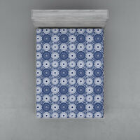 Blue Mandala Fitted Sheet Cover with All-Round Elastic Pocket in 4 Sizes