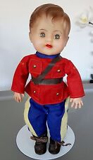 Dee an Cee D C 1950's Brunette Soft Stuffed Vinyl Body Boy RCMP Baby Doll  12""