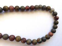 Jewellery Making Natural Gemstone Scenery Jasper 6mm Round Beads - 60pcs/Strand