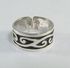 925 sterling silver adjustable ring with Celtic motif by Maria Belen size 8
