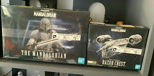 Star Wars The Mandalorian Beskar Armor 1/12 Plastic Model Kit & 018 Razor Crest