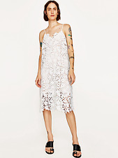 ZARA NEW SS17 STRAPPY LACE DRESS WHITE 2731/059 MEDIUM