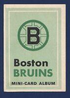 1969-70 O-Pee-Chee BOSTON BRUINS Mini-Card Album w BOBBY ORR Inside BRUINS !!
