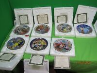 LOT OF 7 Certificate of Authenticity BRADFORD EXCHANGE & KNOWLES PLATE BUNDLE