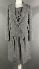 Minuet Petite Size 8 Dress Suit Jacket Set Black White Patterned Work Office