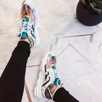 Cape Robbin ATHENA Faux Marble Lace Up Low Top Super Platform Athleisure Sneaker