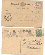 Alemania. 4 Enteros Postales circulados