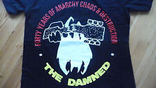 THE DAMNED 40th Anniversary,Anarchy,Chaos T-Shirt Size Large.New.Punk,Rock,Goth