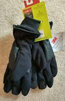 TEK GEAR, Sz S/M, Men's Microfleece Gloves, NW, w/Thinsulate and Touchscreen Com