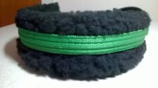 Bitless bridle attachment cob/full blk cushion webbing with emerald green nose