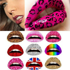 3X Temporary Lip Tattoo Sticker Art Transfers Lady Party Fancy Dress Up ^;!