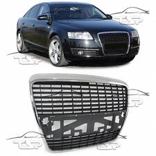 FRONT CHROME-BLACK GRILL FOR AUDI A6 C6 04-11 SPORT LOOK SPOILER BODY KIT NEW
