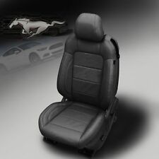 2015-2018 Ford Mustang GT V6 Ecoboost COUPE Katzkin Leather Seats Factory Ebony