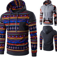 Men's Hoodie Warm Casual Hooded Sweatshirt Jacket Coat