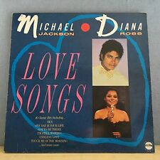 MICHAEL JACKSON & DIANA ROSS Love Songs UK Vinyl LP RECORD EXCELLENT CONDITION B