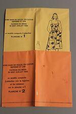 """ MODES & TRAVAUX "" PATRON JUILLET 1983 + PATRON POUPEE M FRANCOISE JEAN MIC A10"